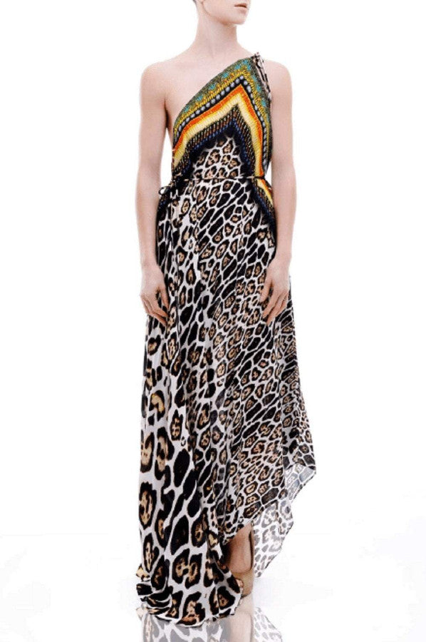 All Dresses - Shahida Parides Cheetah Print Maxi Dress