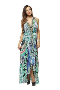 All Dresses - Shahida Parides Luxury Python Print Infinity Dress