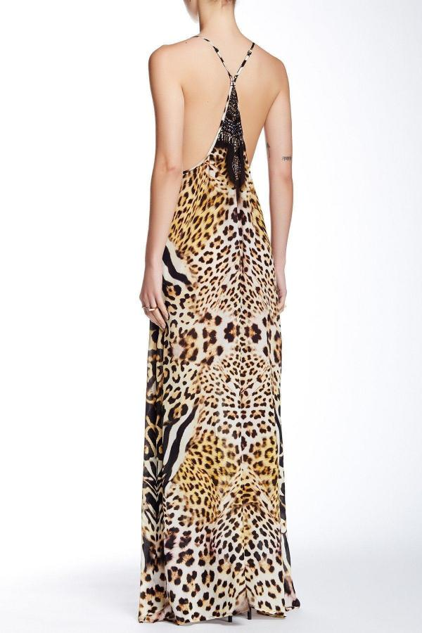 All Dresses - Shahida Parides Natural Leopard Cross Dress