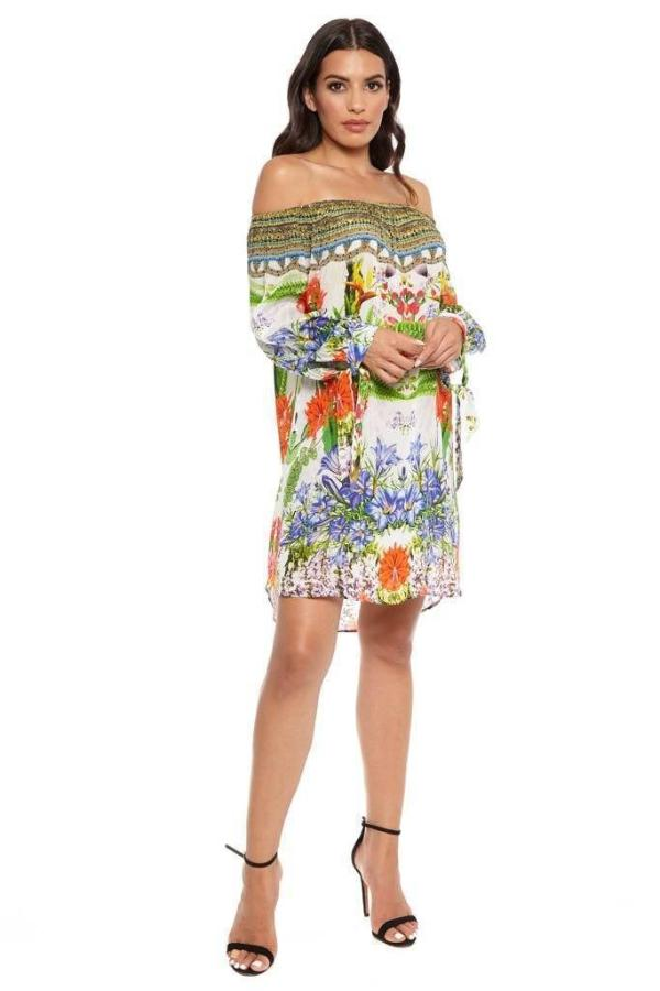 All Dresses - Shahida Parides Off Shoulder Shift Dress