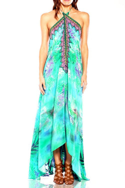 All Dresses - Shahida Parides Palm Print Tropical Maxi Dress