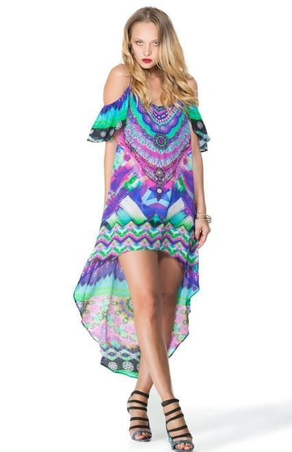 All Dresses - Shahida Parides Sarina Dazzling Hi-Low Cami Dress