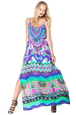 All Dresses - Shahida Parides Sarina Printed Long Maxi Dress