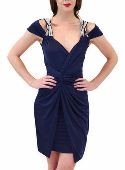All Dresses - Vie Sauvage Clarissa Wrap Dress With Shoulder Crystal Bows