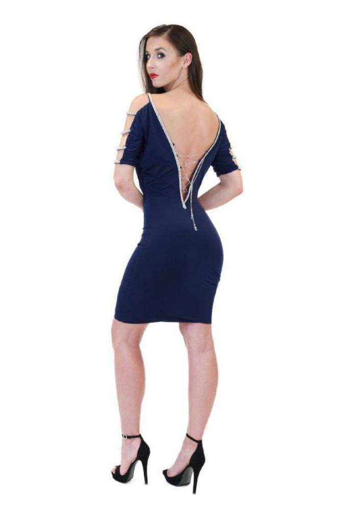 All Dresses - Vie Sauvage Gina Long Sleeve Crystal Dress