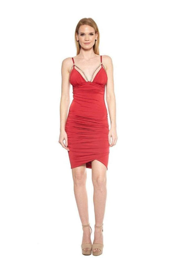 All Dresses - Vie Sauvage Liz Crystal Bra Trim Dress