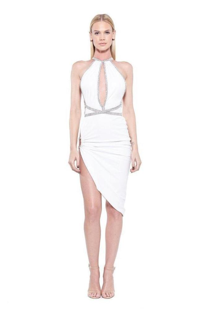 All Dresses - Vie Sauvage Miranda Halter Crystallized Dress