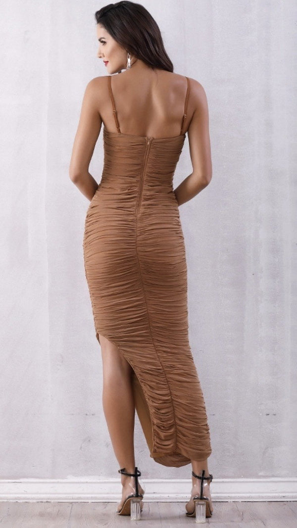 Jessica Bara Alala Ruched Maxi Dress