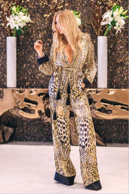 Bottoms - Shahida Parides Cheetah Straight Leg Pants