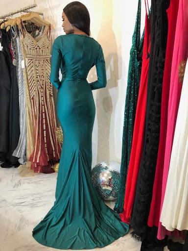Jessica Bara Brunney Long Sleeve Gown