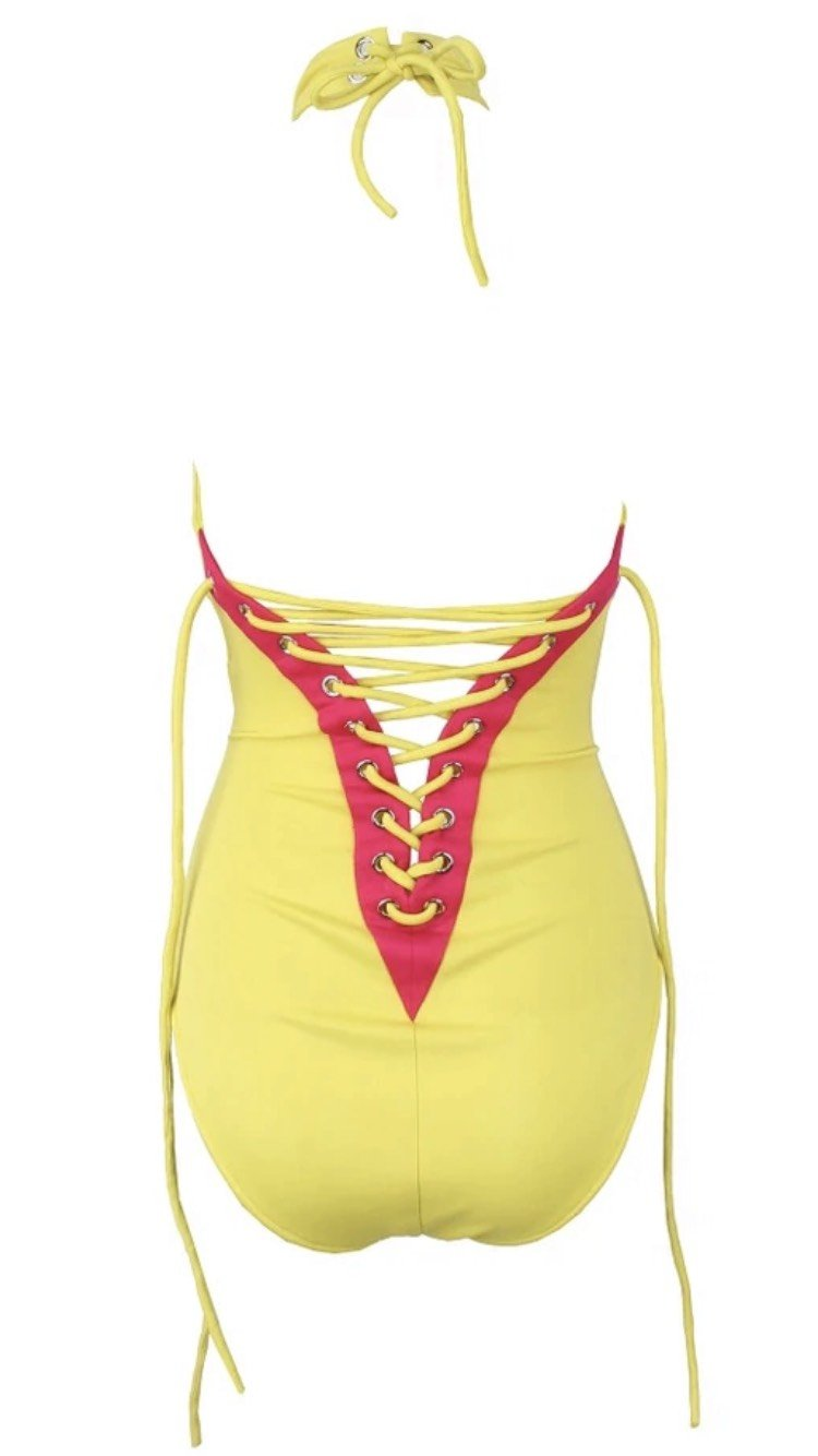 Jessica Bara Creed Cut Out Tie Swimsuit
