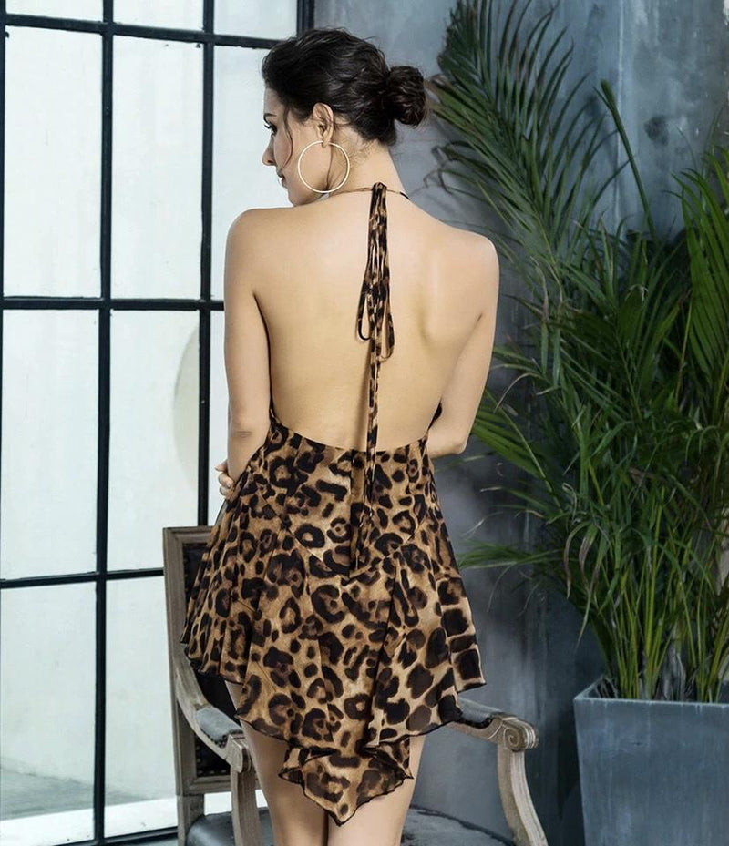 Dresses - Jessica Bara Charli Leopard Short Dress
