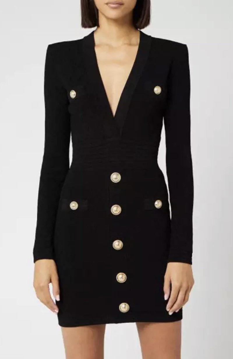 Jessica Bara Caroline Long Sleeve Bandage Dress