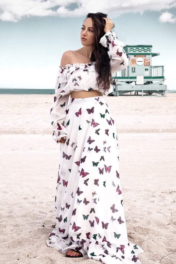 Jessica Bara Rosalia Off Shoulder Two Piece
