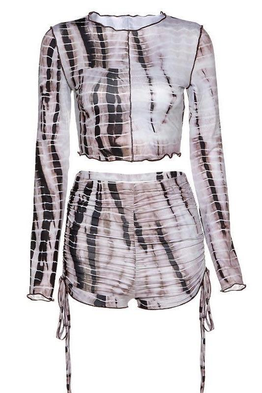 Jessica Bara Kate Tie Dye Top And Short Two Piece Set