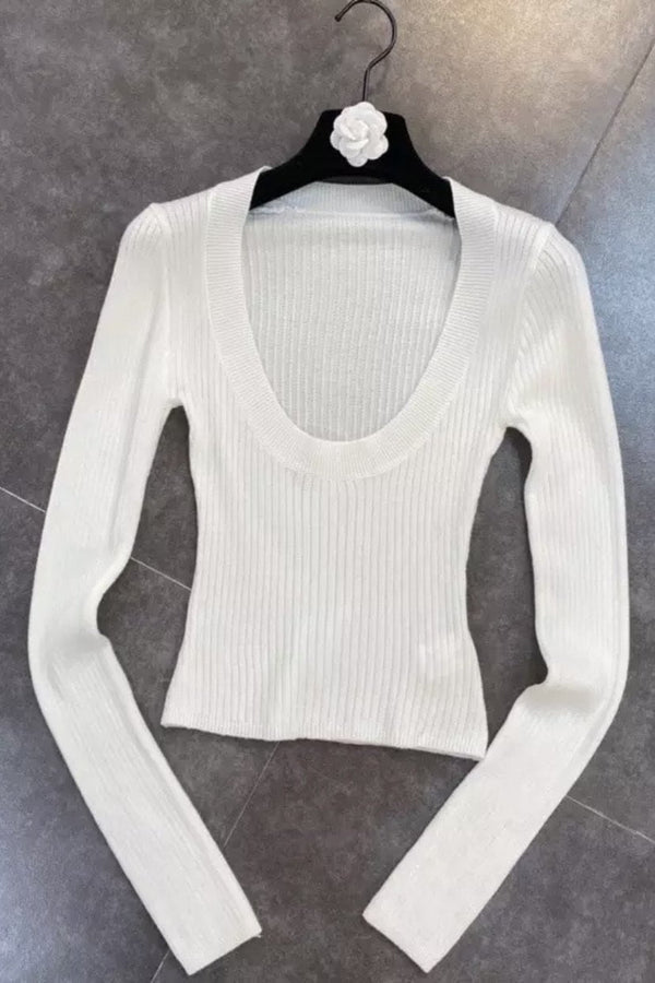 Jessica Bara Kristopher Long Sleeve Round Neck Top