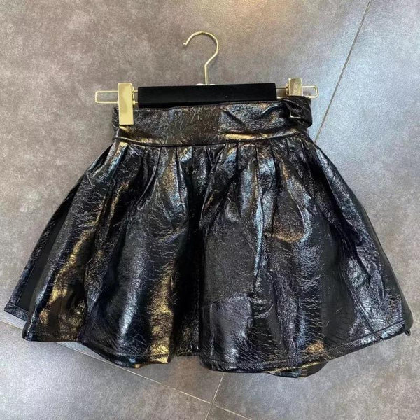 Jessica Bara Bryant PU Leather Belted Mini Skirt