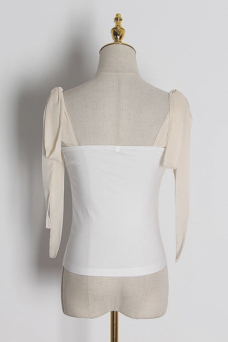 Jessica Bara Marie Shoulder Bow Tank Top