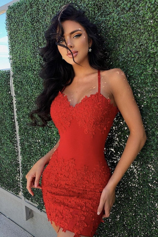 Jessica Bara Glenda Lace Backless Mini Dress