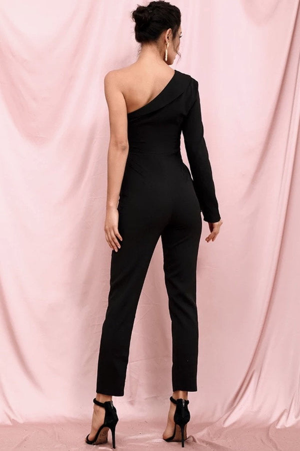 Jessica Bara Rhett One Shoulder Jumpsuit