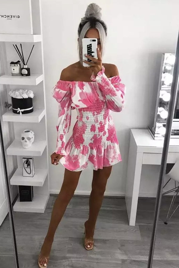 Jessica Bara Fifer Off The Shoulder Mini Dress