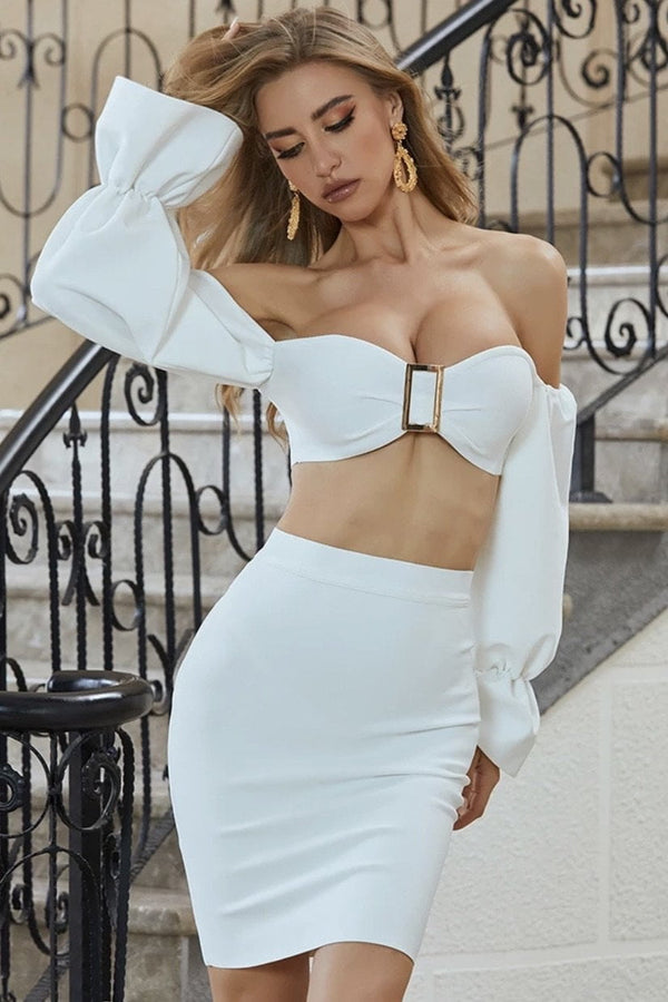 Jessica Bara Summer Crop Top And Skirt Two Piece Set
