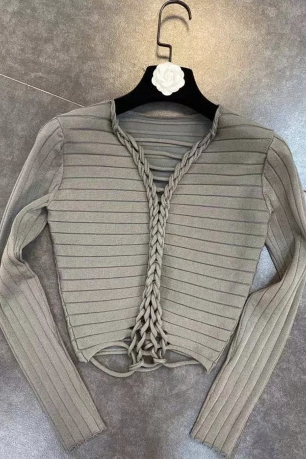 Jessica Bara Delaney Long Sleeve Braided Top