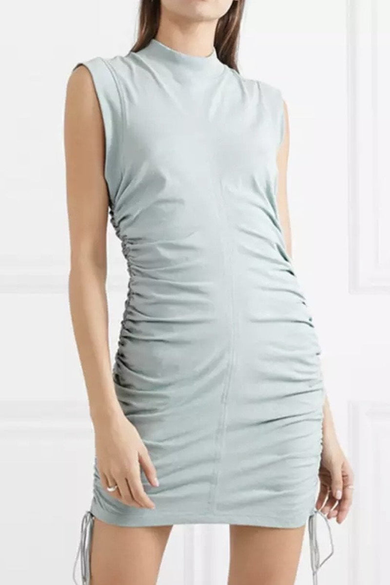 Jessica Bara Juelz High Neck Ruched Bodycon Dress