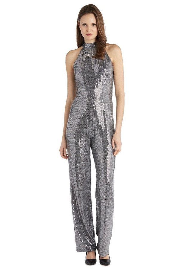 Jessica Bara Karolina High Neck Sequin Jumpsuit