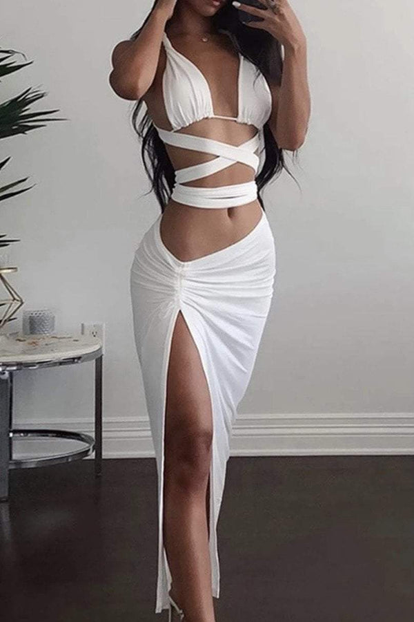 Jessica Bara Samara Strappy Top & Skirt Two Piece Set