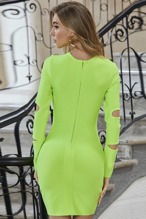 Jessica Bara Colton Long Sleeve Cut Out Mini Dress