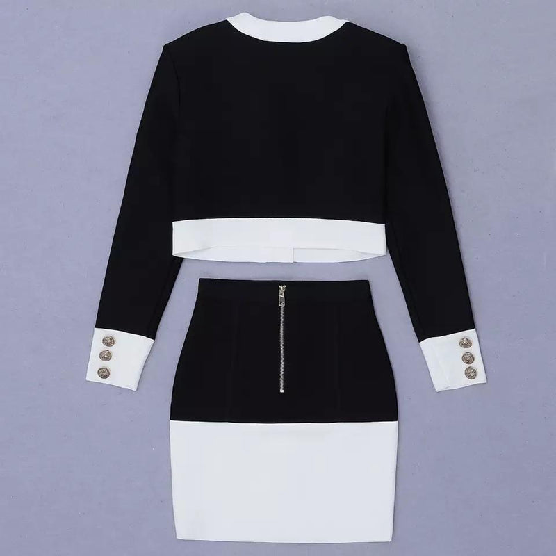 Jessica Bara Riley Color Contrast Two Piece Set