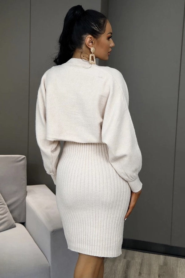 Jessica Bara Gael Knit Sweater & Skirt Two Piece Set
