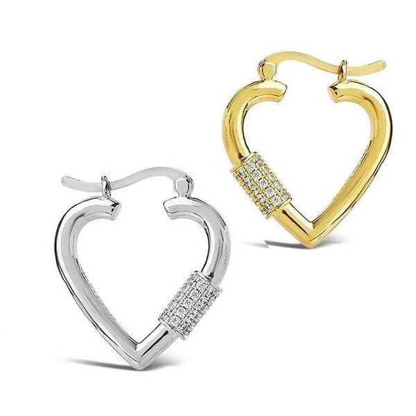 Jessica Bara Hollie Heart Hoop Earrings