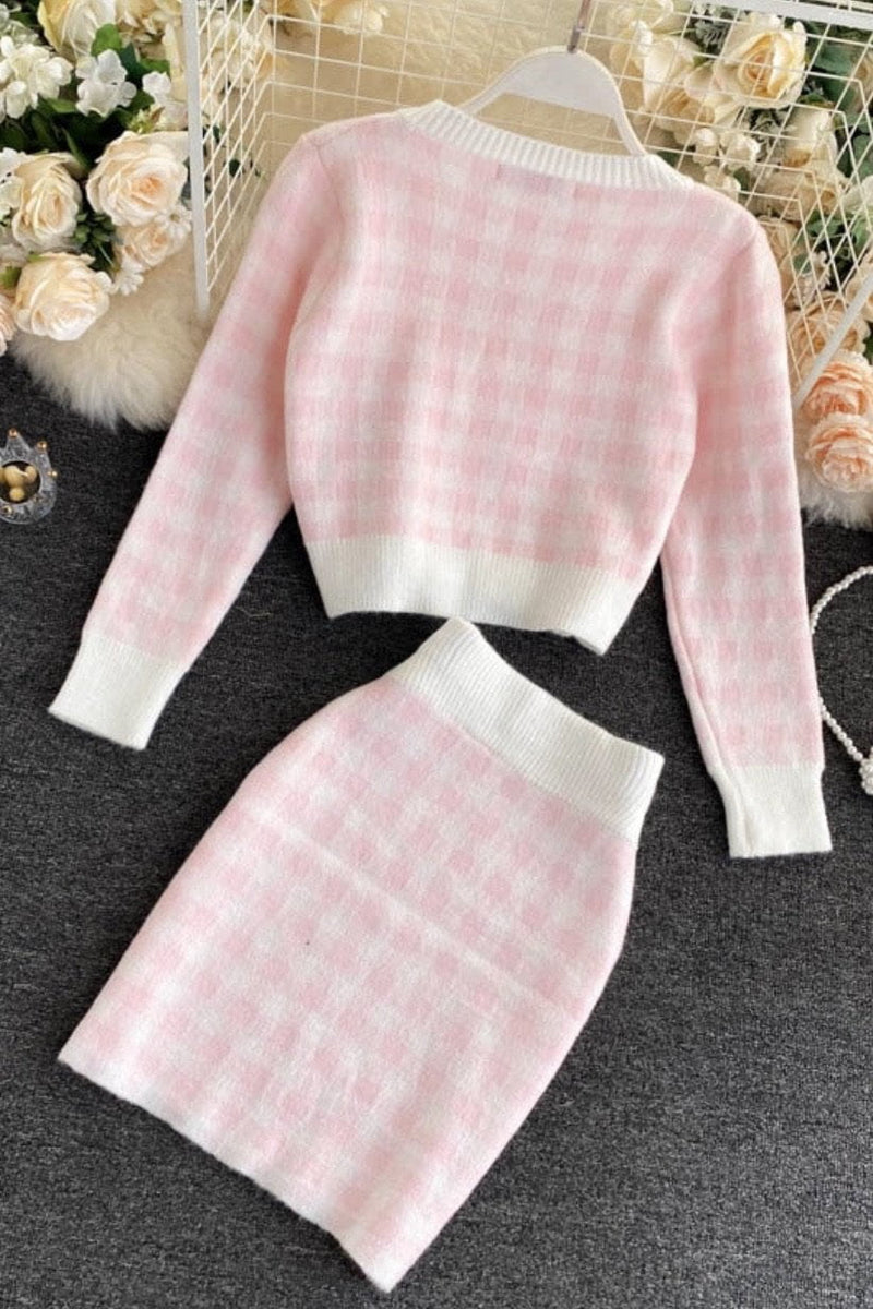 Jessica Bara Rosie Knit Houndstooth 3 Piece Set