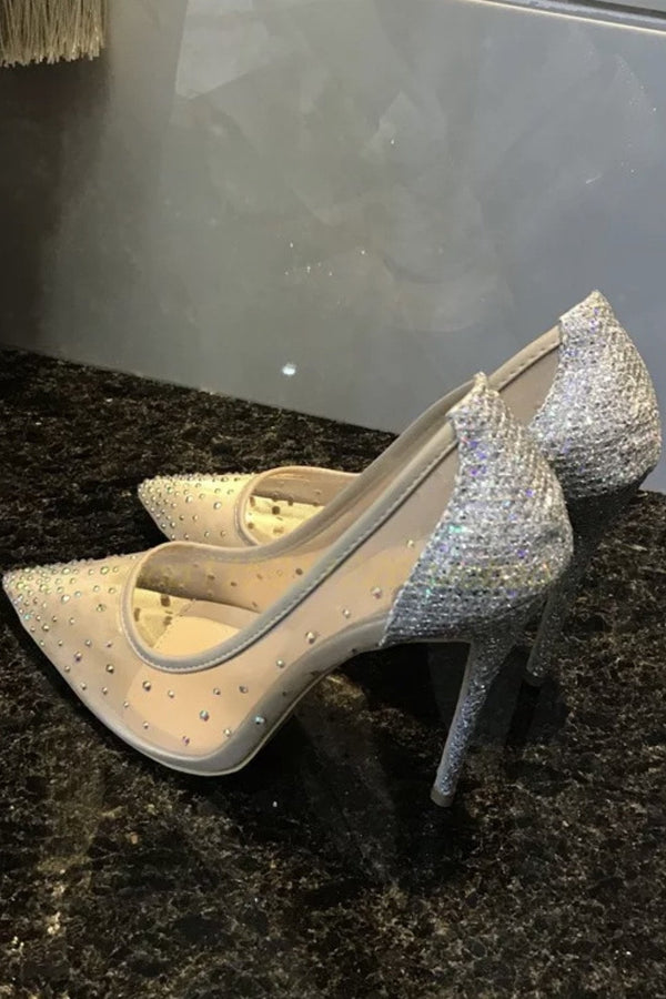 Jessica Bara Tracy Rhinestone Pointed Toe Heel