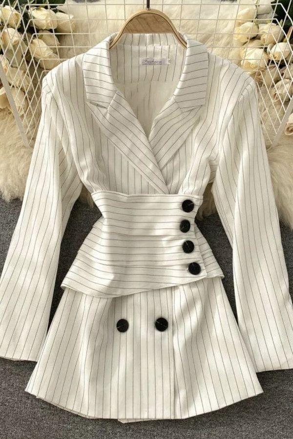 Jessica Bara Lola Long Sleeve Striped Mini Dress