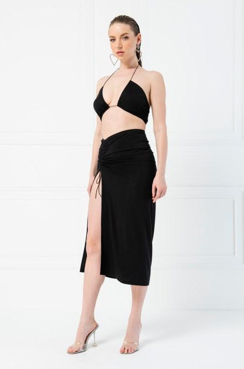 Jessica Bara Maude Crop Top and Skirt Two Piece Set