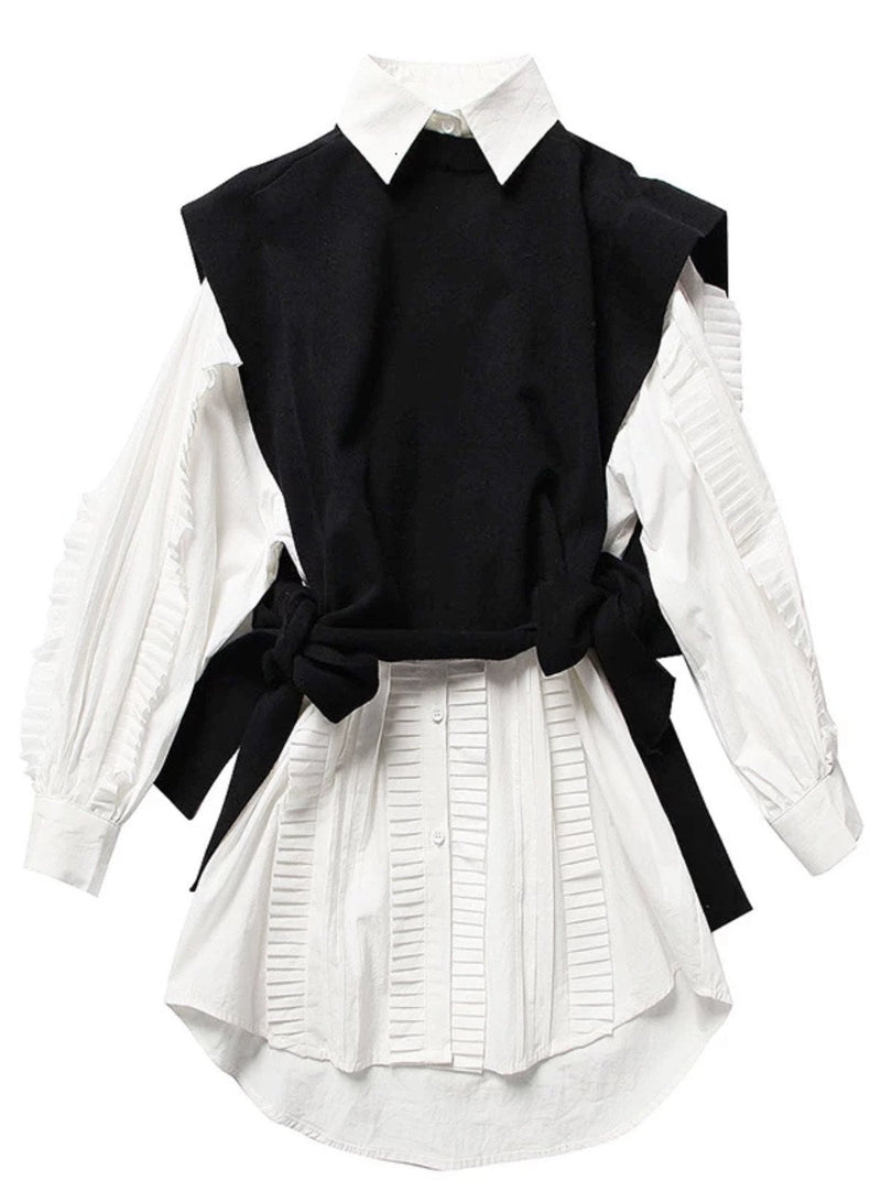 Jessica Bara Carolin Long Sleeve Ruffle Two Piece Top