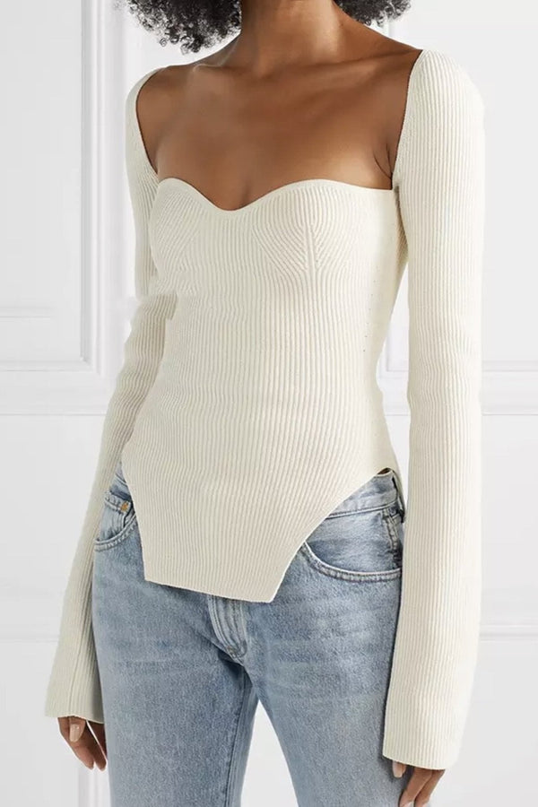 Jessica Bara Gabriela Long Sleeve Knitted Top