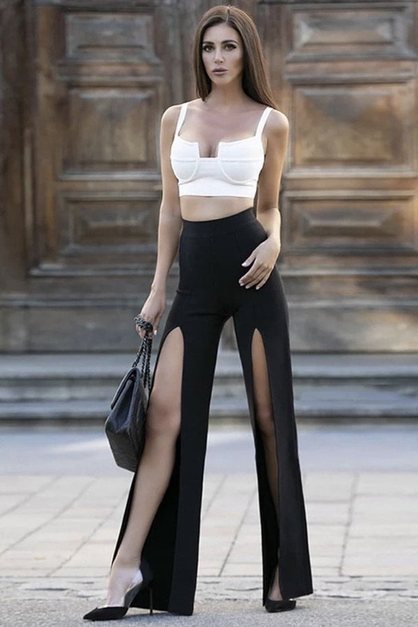 Jessica Bara Adrian Crop Top And Pant Two Piece Set