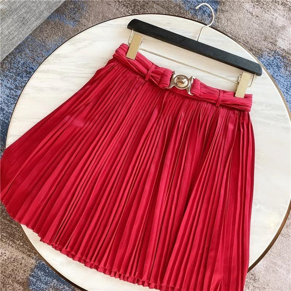 Jessica Bara Jolie High Waisted Pleated Mini Skirt