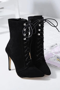 Jessica Bara Elias Lace Up Ankle Booties