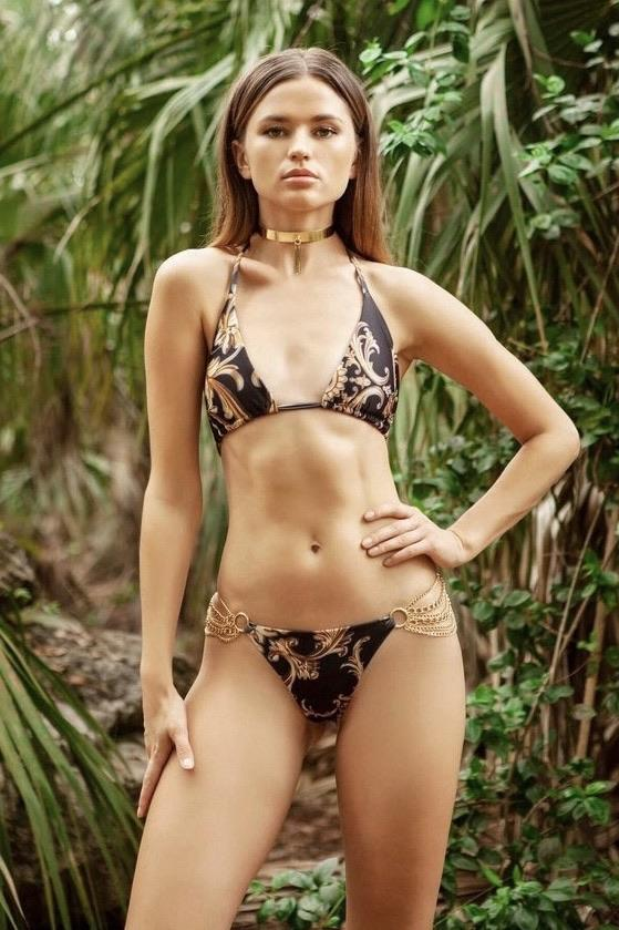 Cioccolato Celina Donatella Chain Bikini Set