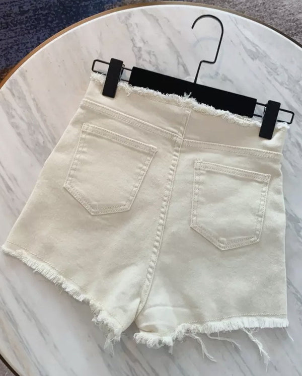 Jessica Bara Kole High Waisted Denim Shorts