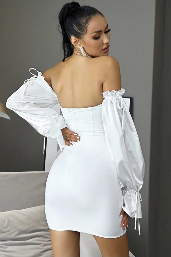 Jessica Bara Casey Off The Shoulder Mini Dress