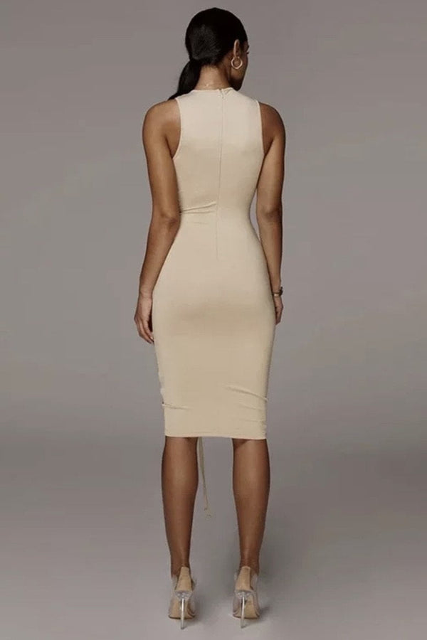 Jessica Bara Baker Ruched Bodycon Mini Dress