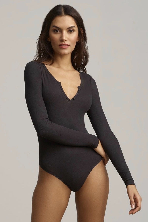 Commando Luxury Rib Longsleeve Henley Bodysuit
