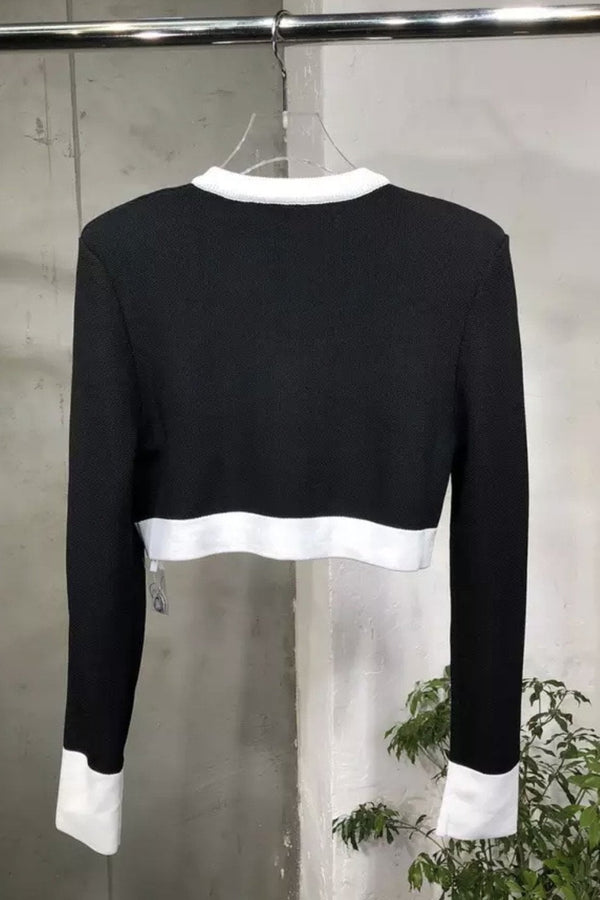 Jessica Bara Camden Long Sleeve Knit Crop Top