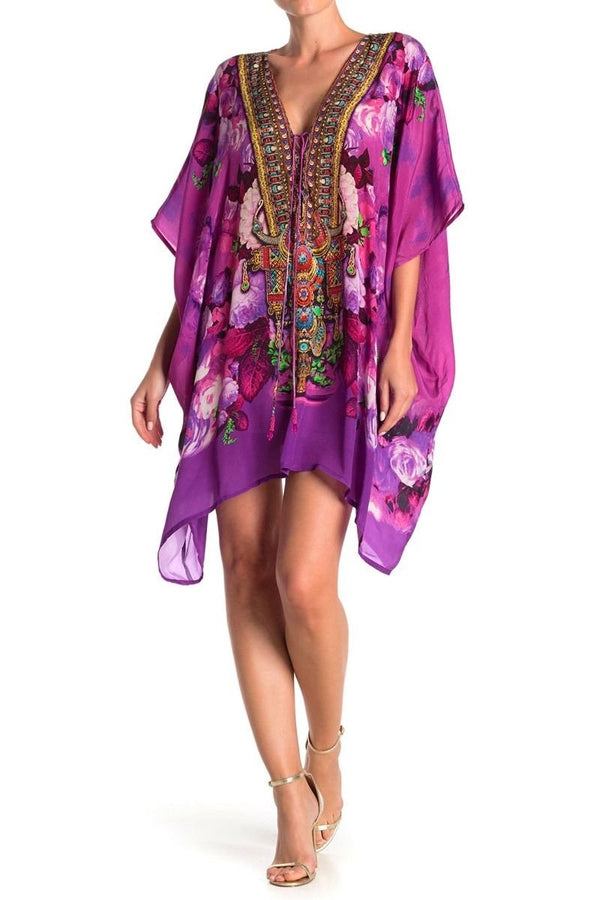 Shahida Pardies Floral Kaftan Mini Dress